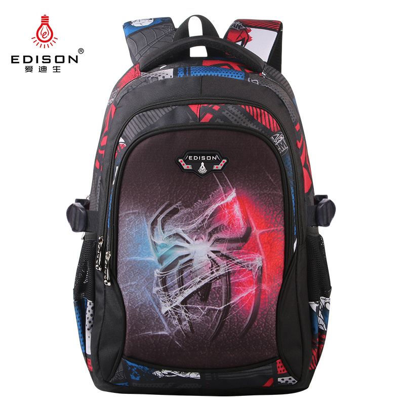 Edison School Backpack Student-Bag Miracle-Series 3d-Printing Girl Cartoon New Boy Offload