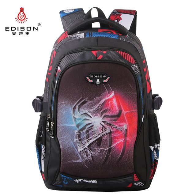 Edison New School Bag Children Backpack Boy Girl School Backpack Miracle Series Cartoon Student Bag 3D Printing Offload Backpack 1