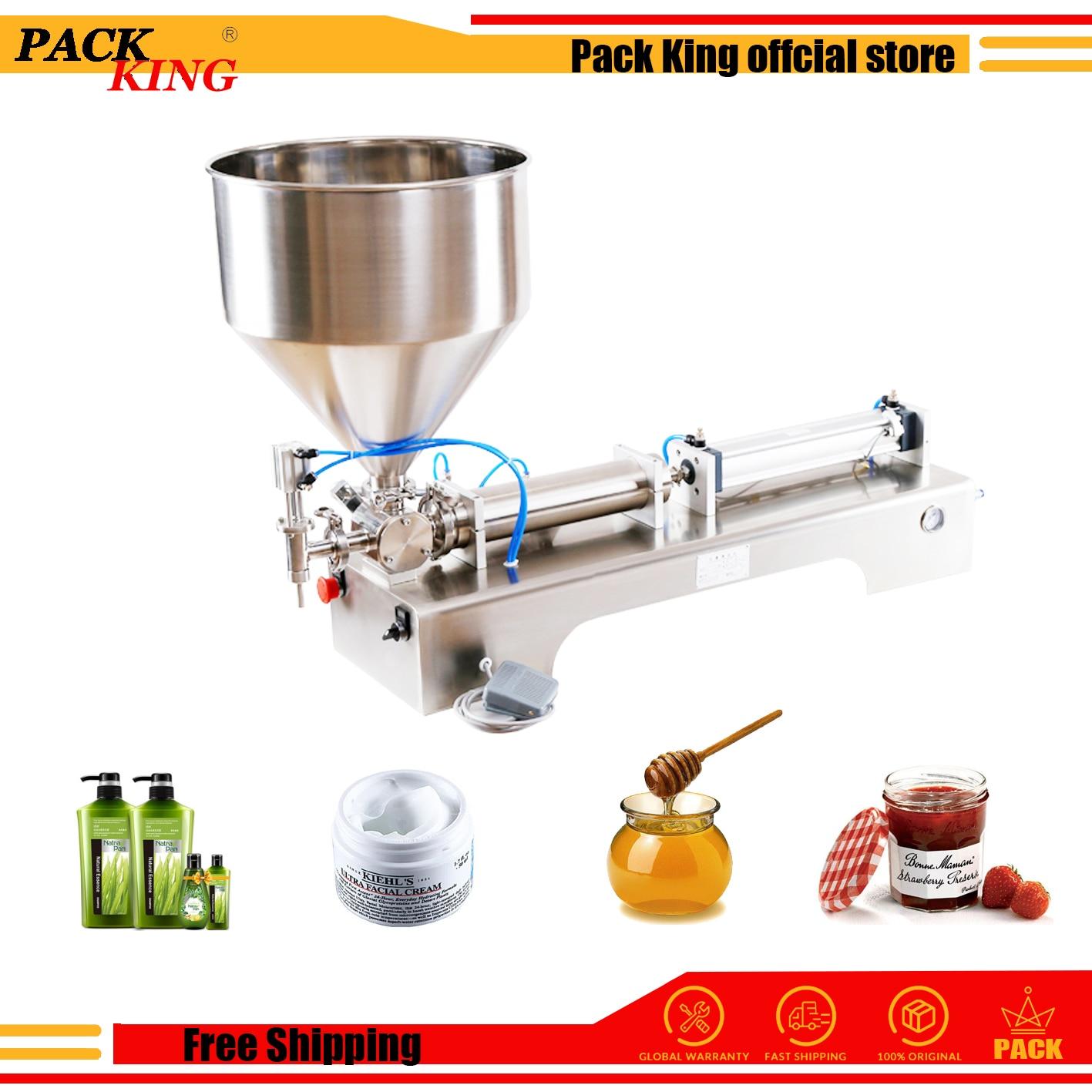 5000ml Model Honey Sauce Cream Paste Filling Machine Pneumatic Filler Shampoo Lotion Piston Gel Detergent Free Shipping