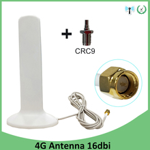 3G 4G Lte Antenne Sma Male 2 M 3G Externe Antena 16dBi Antenne Voor 4G Modem router + Adapter Sma Female Naar CRC9 Mannelijke Connector