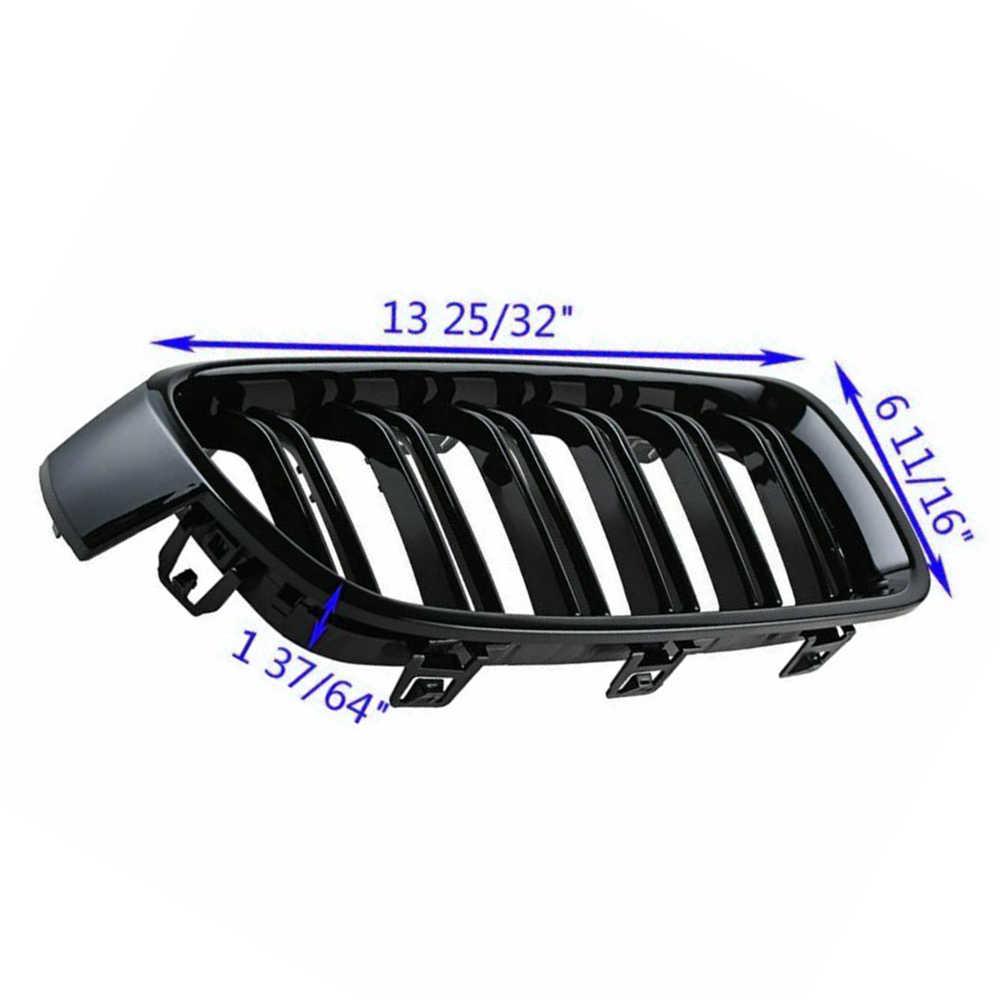 Trwałe grill nerkowy kratki dla BMW F30 F31 serii czarny błyszczący podwójna linia 12-18