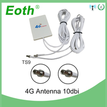 4g LTE Pannel Antenna TS9 Connector 3G 4G Router Anetnna with 2m cable for Huawei 3G 4G LTE Router Modem Aerial dlenp 3m 4g lte antenna 3g 4g external antennas for huawei 3g 4g lte router modem aerial with ts9 connector
