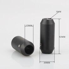 4x HIFI الصوت السراويل Y الفاصل كابل RCA كابل مكبر الصوت سلك بانت ألومينيوم 12 مللي متر إلى 2*5 مللي متر التمهيد