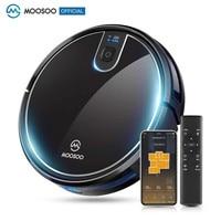 MOOSOO-Robot aspirador MT710, Control por aplicación WIFI, carga automática con memoria inteligente para pelo de mascotas/suelo duro/recolector de polvo para el hogar