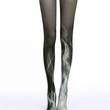 Sexy gradiente medias pantimedias ropa interior retro medias con estampado de gatos Phoenix de mallas de personalidad medias