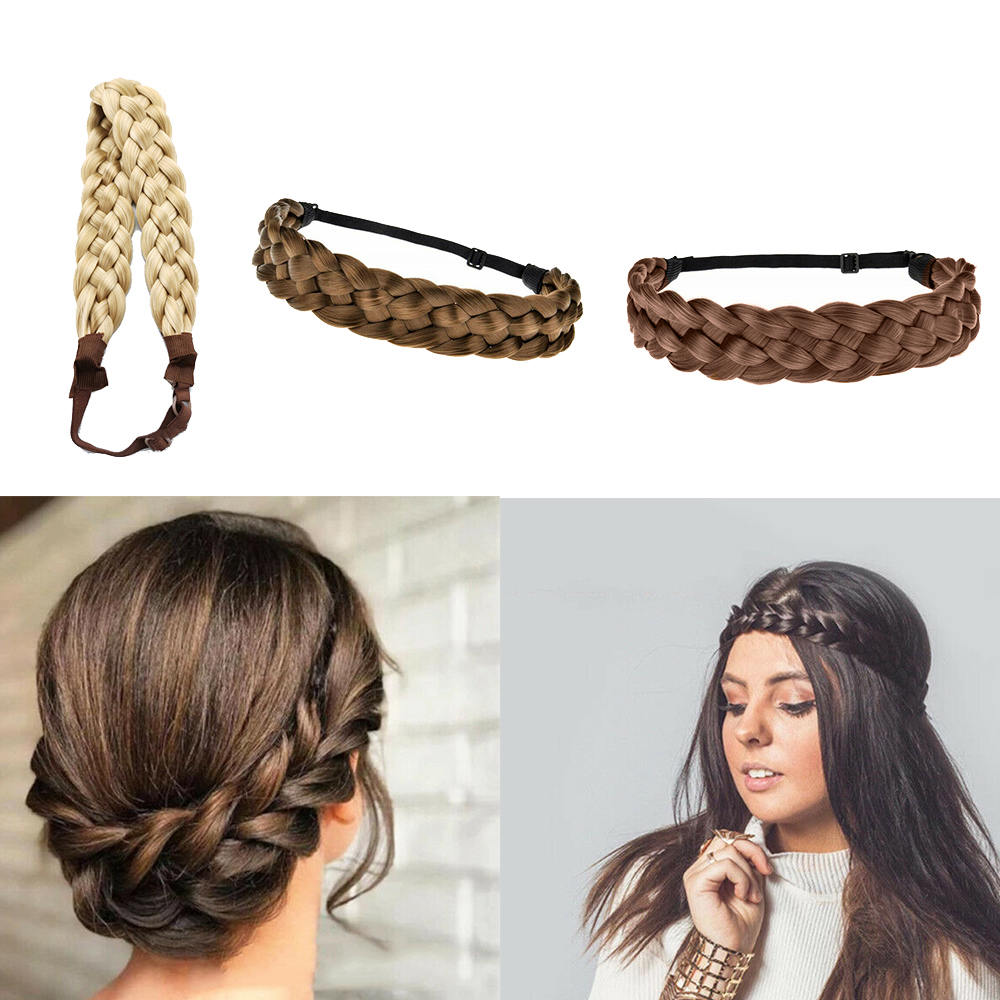 Fashion Bohemian Easy-Wear Hairbands Elastic Braided Hair Headband Wedding Supplies Hair Styling Accessoies Tool