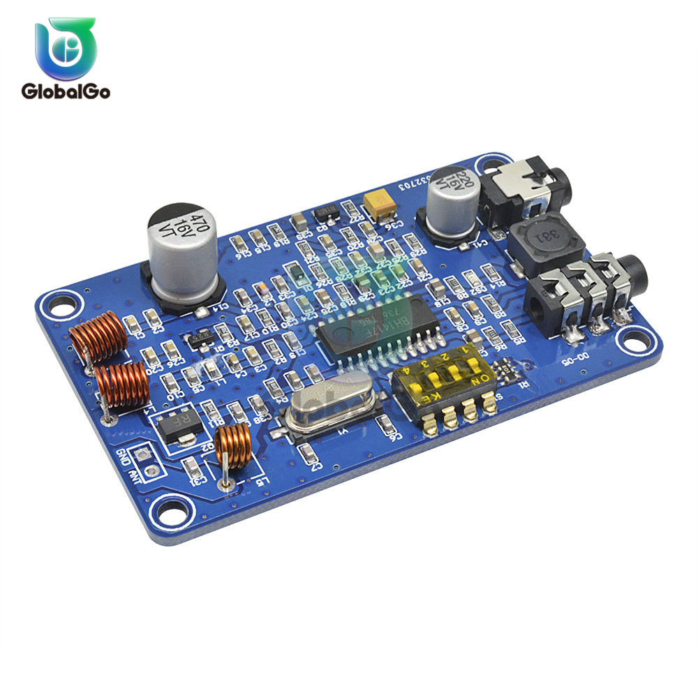 <font><b>BH1417</b></font> 200M 0.5W Digital Radio Station PLL Wireless Two Channel Stereo Radio FM Transmitter Module Board For Music Players TV image