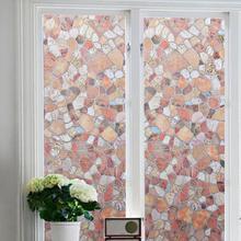 Декоративные клей Бесплатные речные камни шаблон конфиденциальности Защитная статическая оконная пленка для домашнего офиса