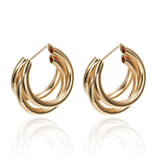 Exaggerated C-shaped multi-layer alloy earrings bohemian style Metal for women jewelry