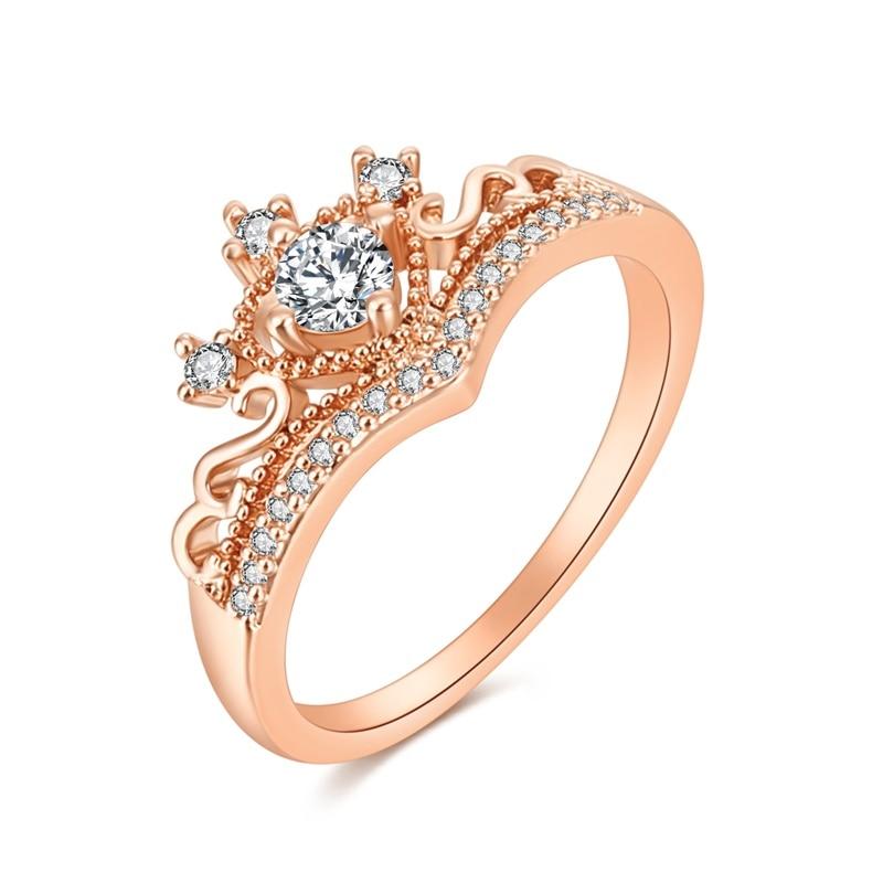 Прямая доставка выбор Циркон Корона кольцо сплава кольца ручной работы оптовая продажа женские кольца