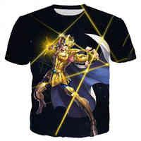 Camiseta de la serie Saint Seiya para hombre y mujer, 3D Camiseta con estampado, ropa informal estilo Hip Hop, Tops informales de verano, novedad de 2021