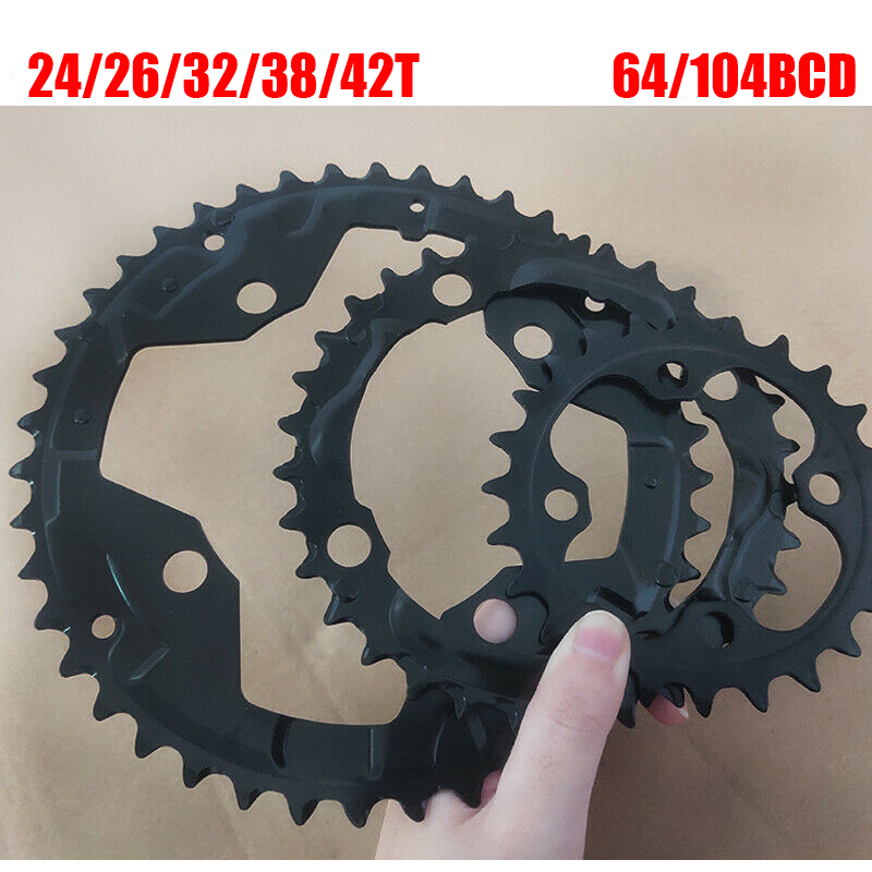 104/64 BCD Bicycle Chainring 24/26/32/38/42t MTB Chain Ring Double/Triple 10Speed Chainwheel For Shimano Crankset