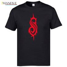 New 2019 Fashion Summer Style Printed Slipknot Rock Band T Shirts Hip hop Cotton Short Sleeve T-shirt Men Brand Clothing