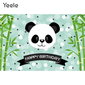 Image 2 - Yeele Cartoon Panda Polka Dots Baby Birthday Party sfondi per fotografia sfondo fotografico personalizzato per Studio fotografico
