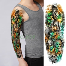 Waterproof Temporary Tattoo Sticker Skull Butterfly sister flower full arm fake tatto flash tatoo large tattoos for men women(China)