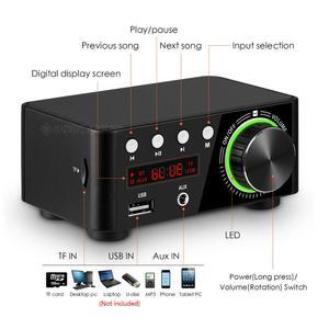 Image 4 - Nobsound Mini Bluetooth 5.0 güç amplifikatörü alıcısı Stereo 2 Ch ev ses araba Amp USB U disk müzik çalar 19V adaptörü