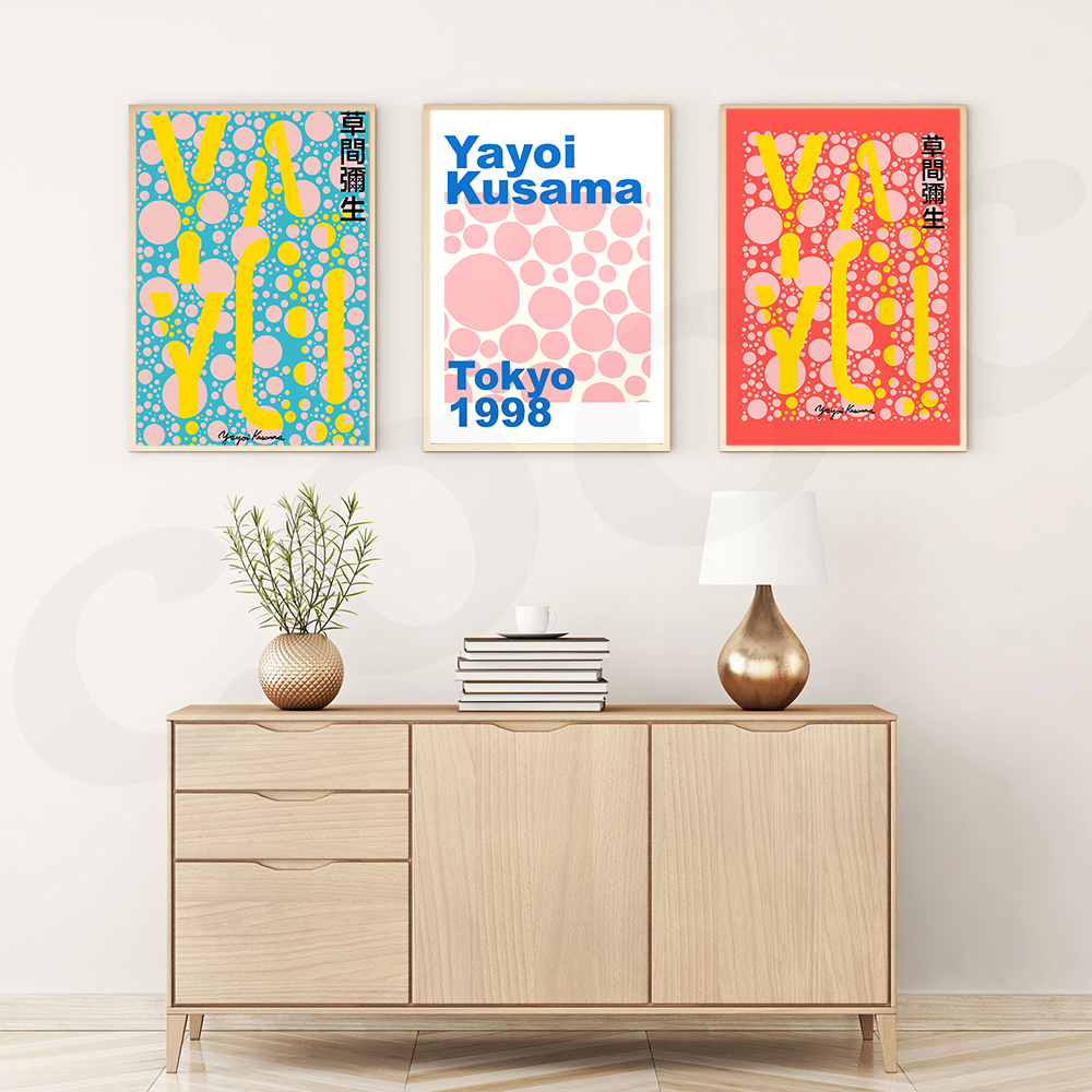 Yayoi Kusama Exhibition Home Decoration Canvas Art Painting Tokyo Posters HD Image Print Wall Picture for Living Room
