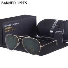 high quality BANNED G15 mirror glass lens design women men aviation Sun