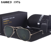 high quality BANNED G15 mirror glass lens design women men aviation Sun
