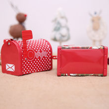 Mailbox Shape Metal Storage Box Candy Iron Box Bridesmaid Gift Wedding Christmas Party Innovative Tinplate Sugar Packing Box(China)