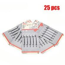 """25 шт./компл. T119BO """"zheijang ningbo"""" для кусконарезателя металлический Сталь Jigsaw для кусконарезателя фитинг для Пластик с высоким содержанием углерода Сталь Деревообрабатывающие инструменты"""