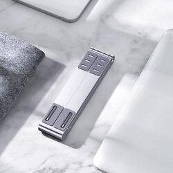 MICCGIN aluminiowy MINI stojak na laptopa do telefonu komórkowego magiczny składany Macbook Pro Air Notebook Iphone mobilny uchwyt na Tablet biurko
