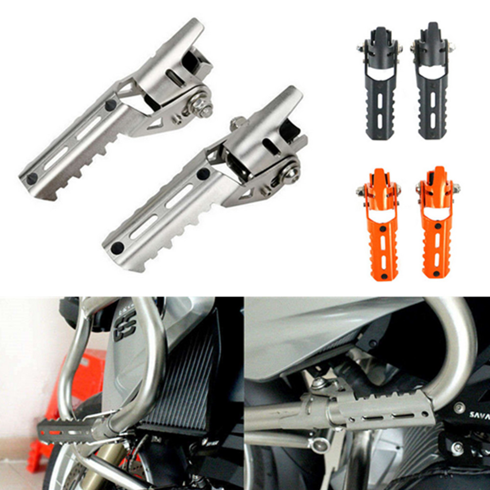 22mm/25mm Highway Front Foot Pegs Footrests For BMW R1200GS R 1200 GS LC 2013-2017 For Pipes Triumph For Tiger Explorer Clamps