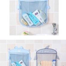 Storage-Basket Bath-Organizer Hanging Bathroom Sand-Toys Cloth Baby Waterproof Kids Cartoon