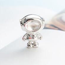 Аутентичные 925 стерлингового серебра бусины новые творческие