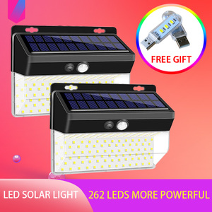 262LEDS Garden Lamp Solar Waterproof Street Garland Light Solar Lamp PIR Motion Sensor Sunlight Security Solar Battery Lantern