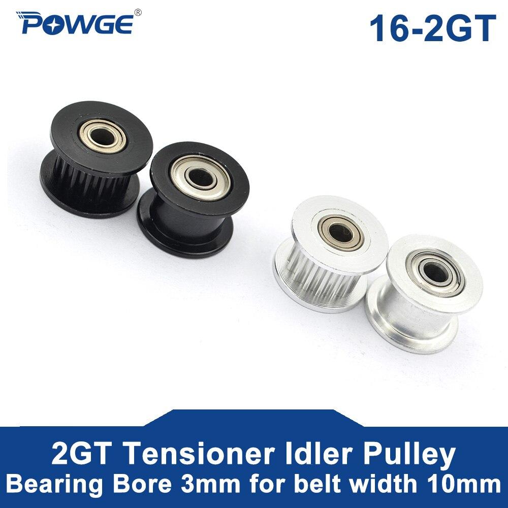16 Teeth 2GT synchronous Idler pulley Bore 3mm for Width 6mm GT2 Open Belt 16T