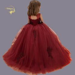 Бальные и конкурсные Детские платья для девочек бальные платья свадебное платье для маленьких девочек Детские Вечерние платья Платья с