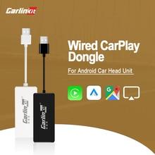 Carlinkit USB CarPlay Dongle Android авто для заправки Android экран мультимедийный плеер Autokit Smart Link Проводной адаптер IOS 14 карта