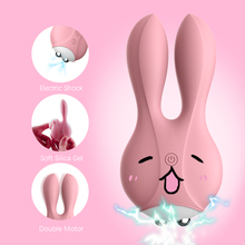 Dual Motor Rabbit Vibrators Female Sex Tools Vaginal G-spot Massager Electric Shock Vibrating Egg Masturbator Sex Toys for Women
