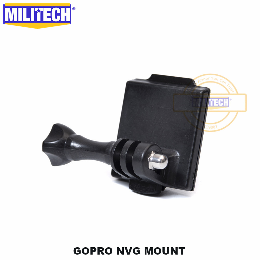 MILITECH Gopro Mount Arm Go Pro Hero NVG Holder Mount For Ballistic Airsoft Gaming Helmet