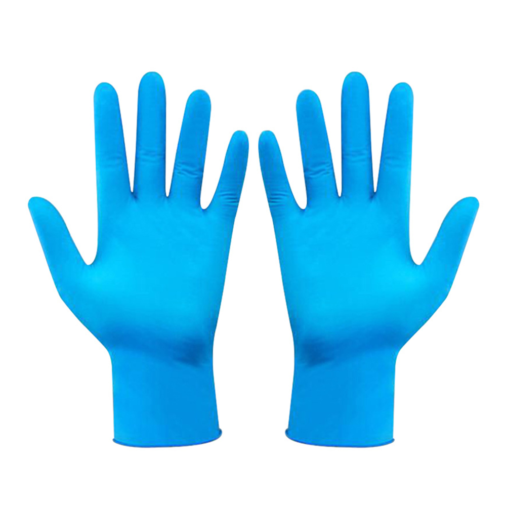 100pcs Disposable Blue Nitrile Glove Powder Free Oil Proof Protective Glove Convenient Laboratory Inspection Glove Cleaning Tool