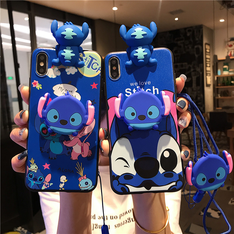 Cartoon Couples Phone Case For Huawei P20 Lite P30 Lite Pro P40 Y9S P Smart Z Y9 2019 Y7 7A 7C Y5 2018 Y6 Soft TPU Lanyard Cover