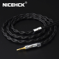 NICEHCK C4 1 Cable 6N Single Crystal Copper UPOCC Silver Plated 3.5/2.5/4.4mm MMCX/2Pin/QDC/NX7 For KXXS Kanas TFZ F3 TANCHJIM