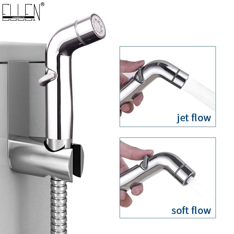 Bidet Faucet Toilet Sprayer Hanging NO Punch Two Function Toilet Hand Bidet With Brass T Adapt ML08