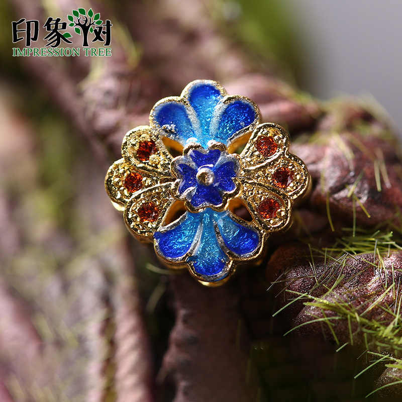 1pcs 11mm Copper Dripping Oil Flat Flower Imitate Enamel Effect Charms For DIY Jewelry Bracelet Necklace Making 27037
