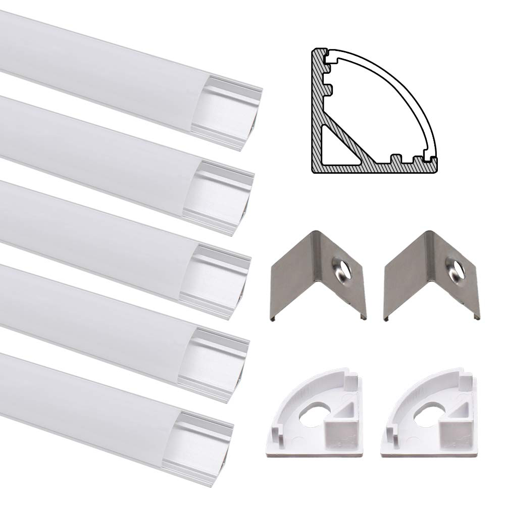 1-30pcs 50cm Led Bar Light Housing V Shape Triangle Aluminum Profile Led Aluminium Profile For 12mm PCB Strip