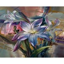 Gatyztory рамка Фиолетовый цветок diy картина по номеру дома