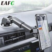 EAFC-Soporte de teléfono para coche de gravedad, ventosa de soporte fuerte, ventosa para teléfono móvil retráctil plegable, soporte de teléfono para coche