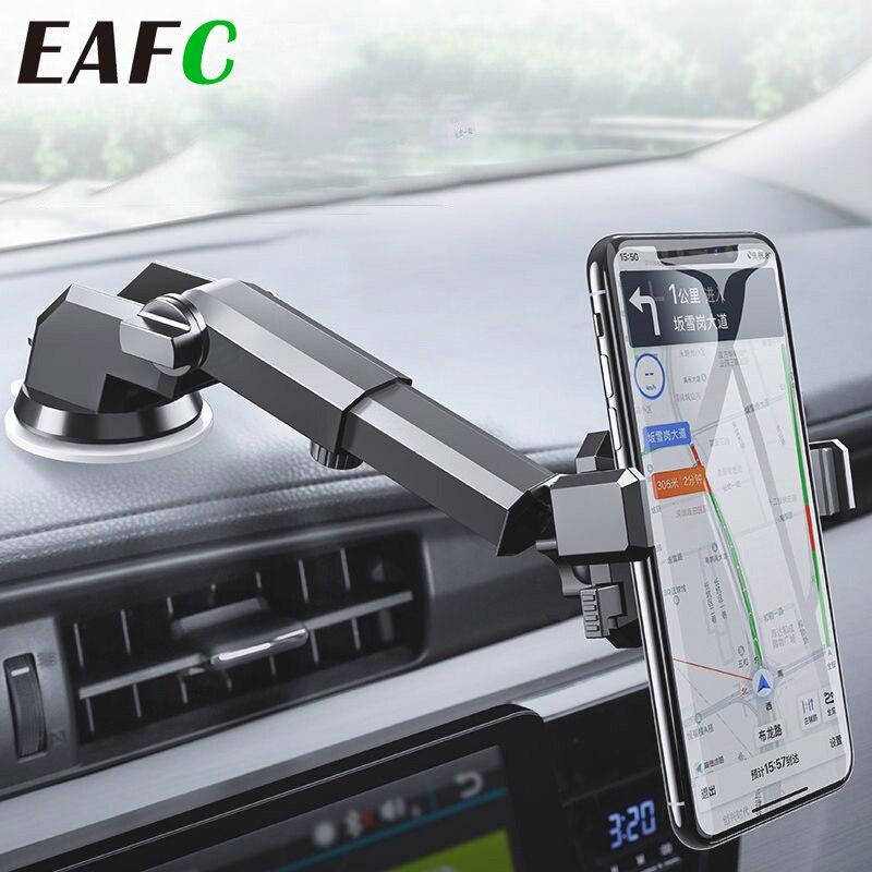 Support pour téléphone de voiture de gravité deafc ventouse forte de soutien pour le Support de téléphone automatique de bâti de voiture pliable rétractable de téléphone portable