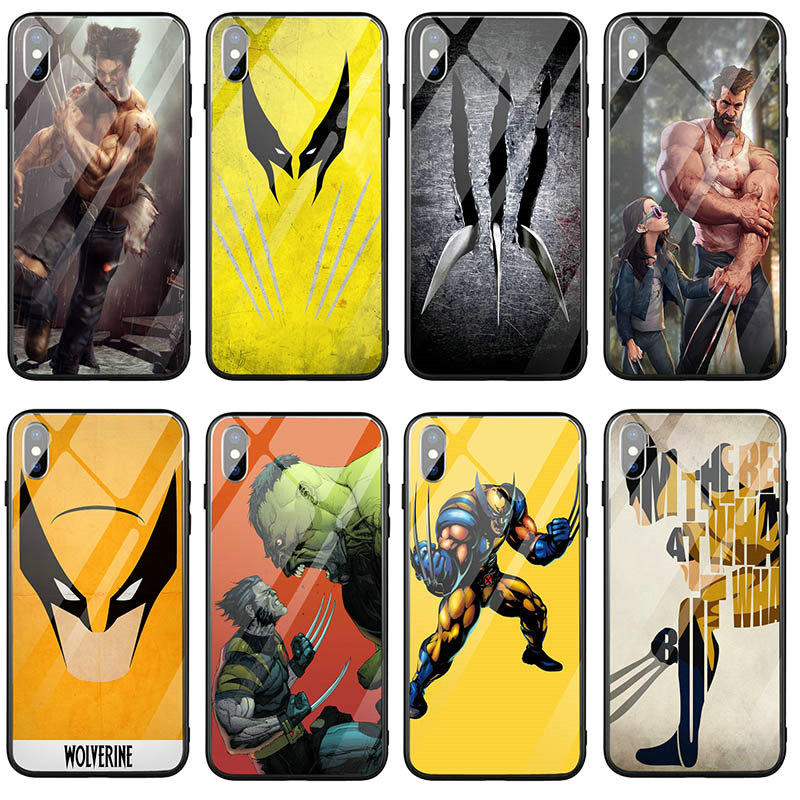 Wolverine Comics Xmen Hero Tempered Glass Cases Cover for iPhone 7 8 6 6S Plus X XR XS 11 Pro Max SE Mobile Phone Case Bags image