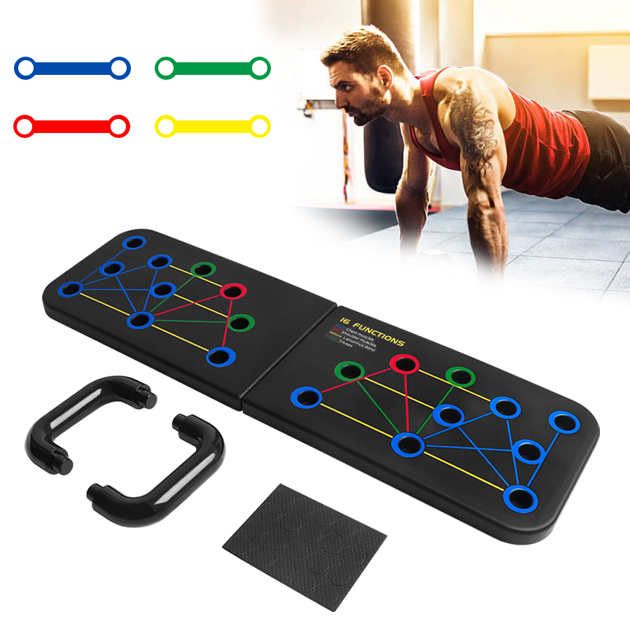 Push Up Rack Folded Board Set abdominal Bar Multi Function Fitness Gym Home BodyBuilding Muscle Grip Training Exercise Equipment|Push-Ups Stands| - AliExpress