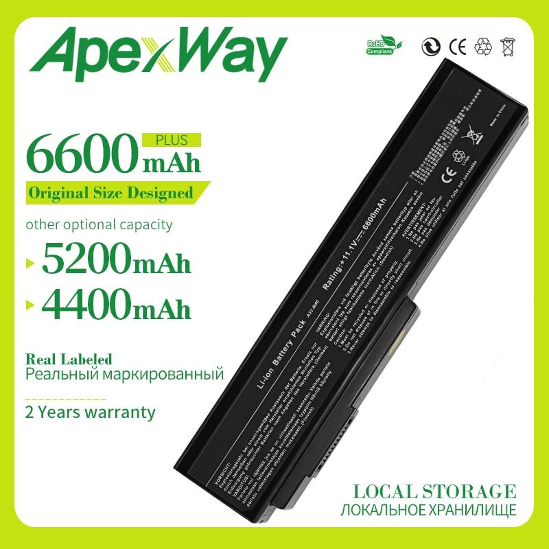 Apexway 6 Cell Battery For ASUS N53Jn N53Jq N53Jf N53Jg N53JL N53SD N53SN N53SV X5M X5MJF B43 B43F B43J N43JQ N43Jg N43SD N43SL