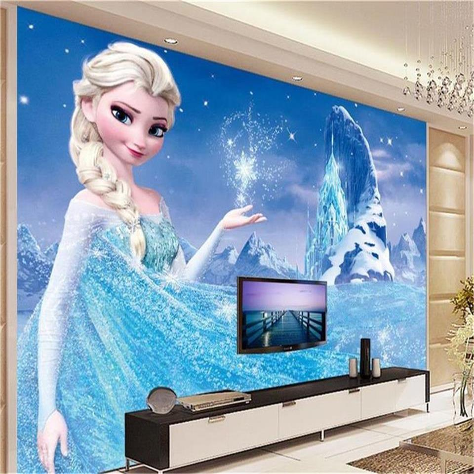 Custom Size 3d Photo Wallpaper Mural Kids Room Snow Queen Butterfly 3d Picture Painting Sofa TV Backdrop Wallpaper For Wall 3d