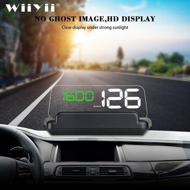 T900 HUD GPS araba Head Up ekran cam hızlı projektör OBD C500 dijital kilometre On kart bilgisayar yakıt kilometre gerilim