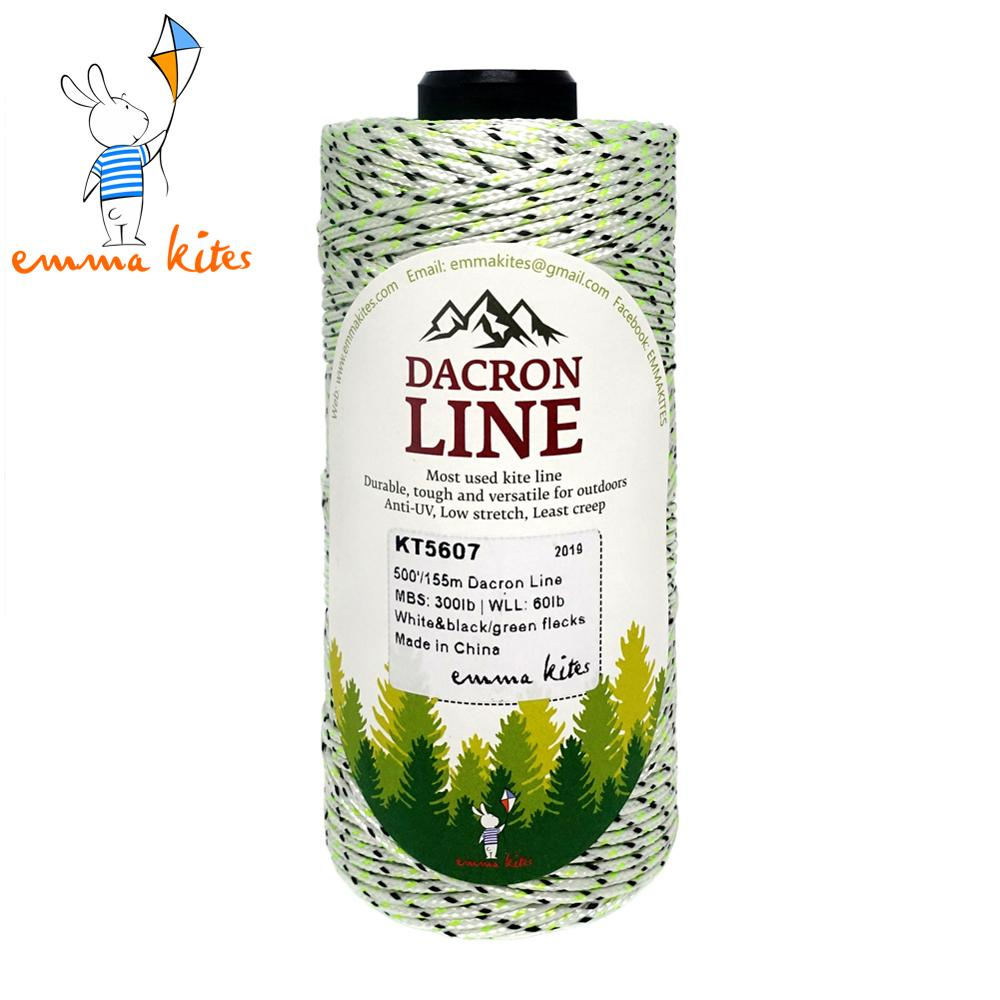1000ft Braided Dacron Line For Single Line Kites Fishing Camping Line 50lb